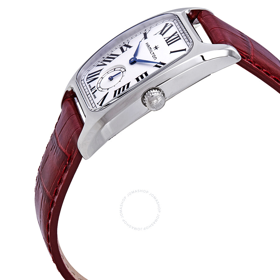 Boulton Silver Dial Red Leather Ladies Watch H13421811