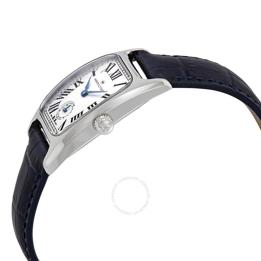Boulton Silver-White Dial Blue Leather Ladies Watch H13321611