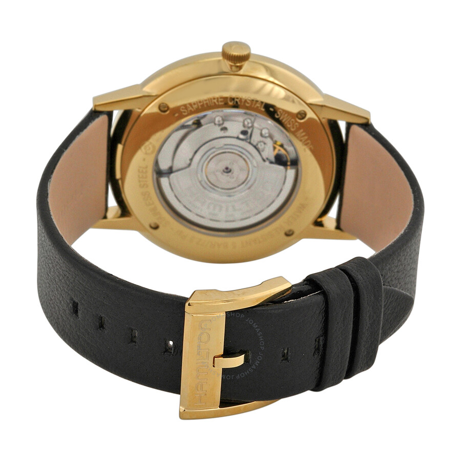 12ecc582c ... Hamilton Intra-Matic Automatic Yellow Gold PVD Men's Watch H38735751 ...