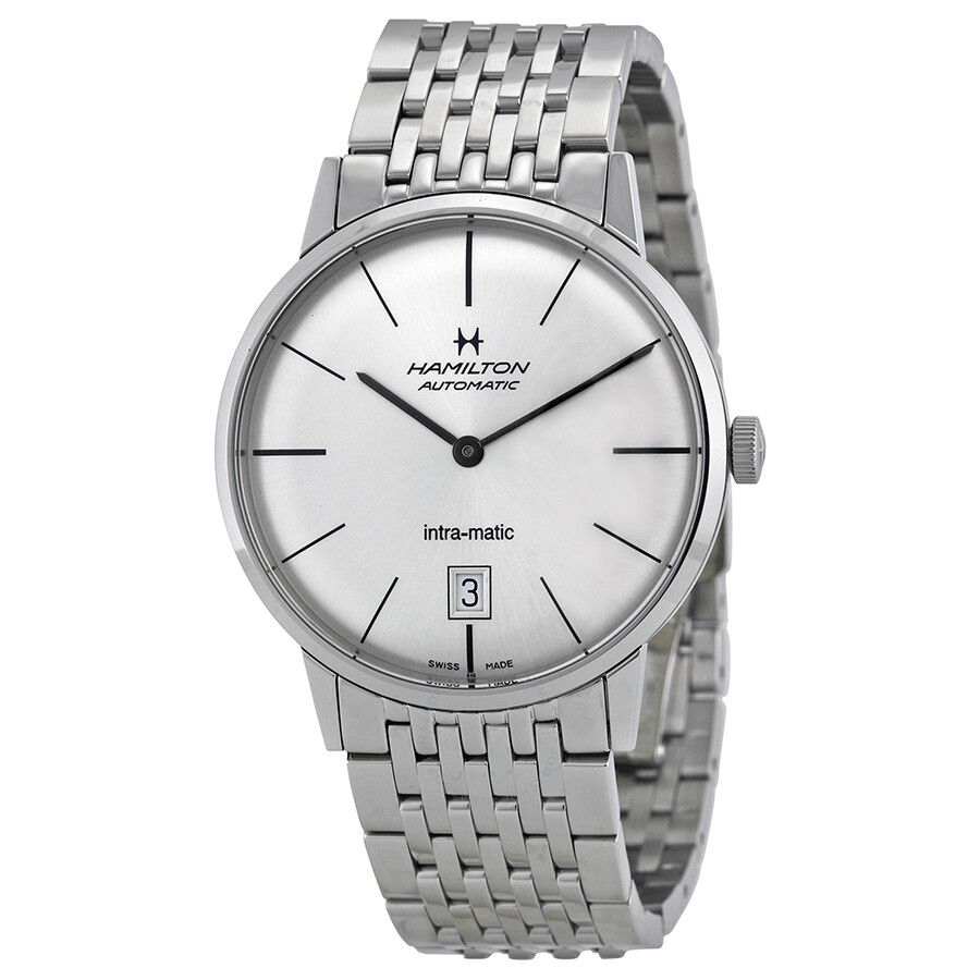Hamilton Intra-Matic Silver Dial Stainless Steel Men's Watch