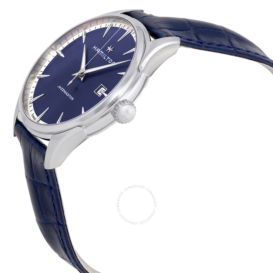 ... Hamilton Jazzmaster Blue Dial Men s Leather Watch H32451641 ... 0270e735fa6