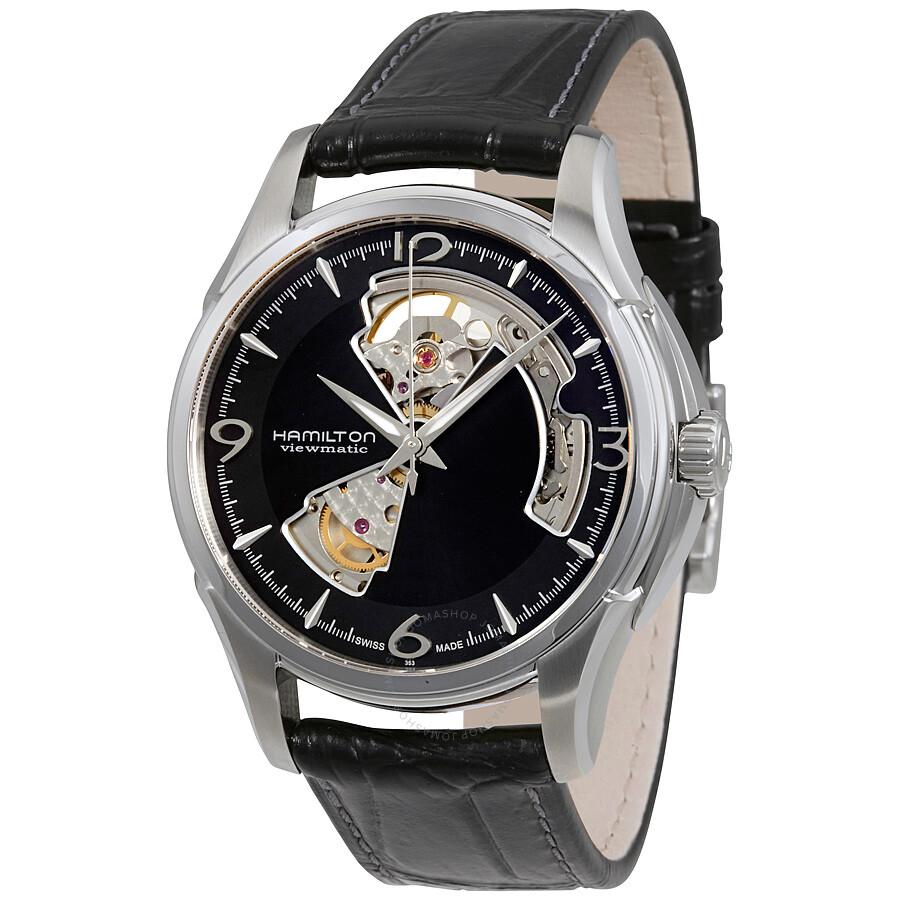 84130ace8113 Hamilton Jazzmaster Open Heart Black Dial Automatic Men s Watch H32565735  ...