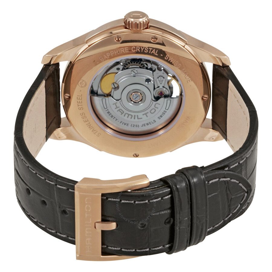 ... Hamilton Jazzmaster Open Heart Rose Gold Plated Case Automatic Men's Watch  H32575735 ...