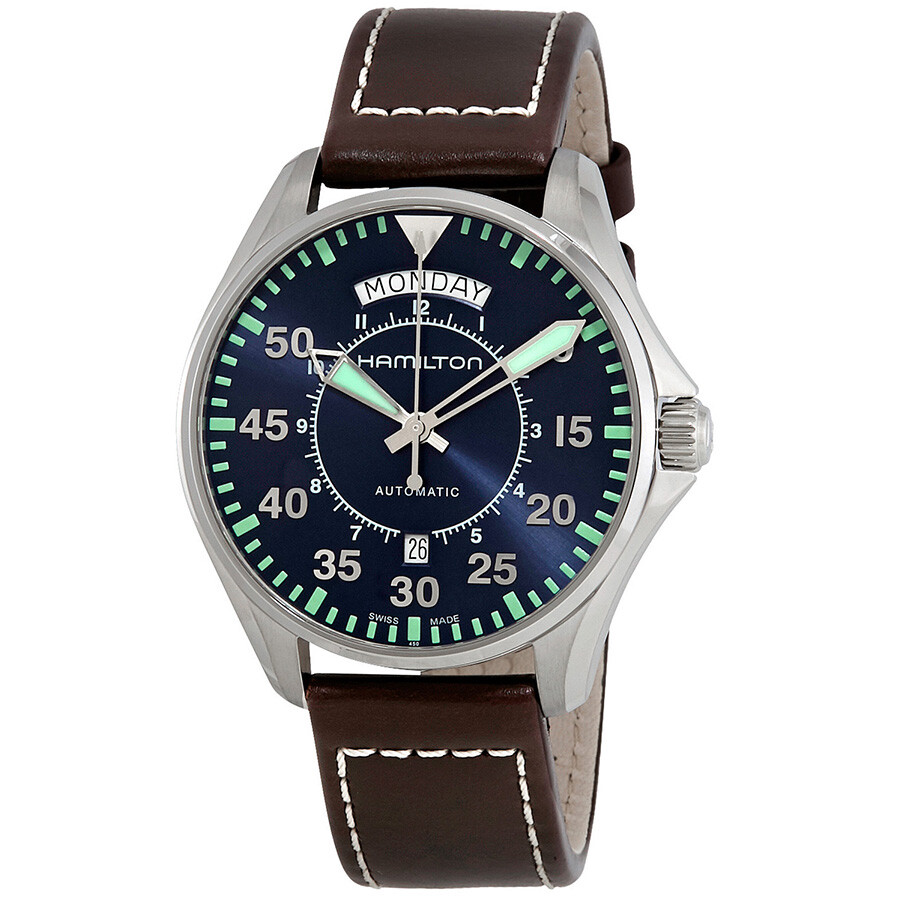 Hamilton Khaki Aviation Automatic Blue Dial Men s Watch H64615545 ... b95594462f