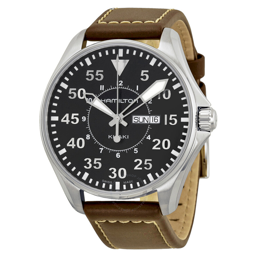 burberry watch outlet ixop  Hamilton Khaki Aviation Pilot Black Dial Men's Watch