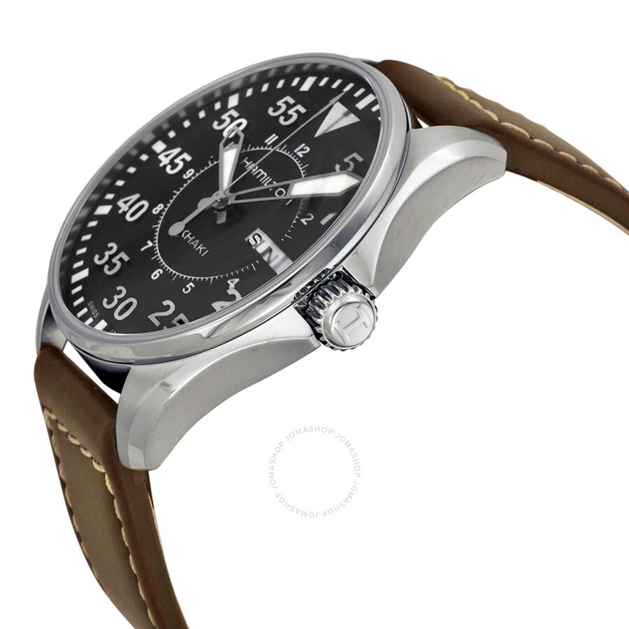 ... Hamilton Khaki Aviation Pilot Black Dial Men s Watch H64611535 ... db77b96a37