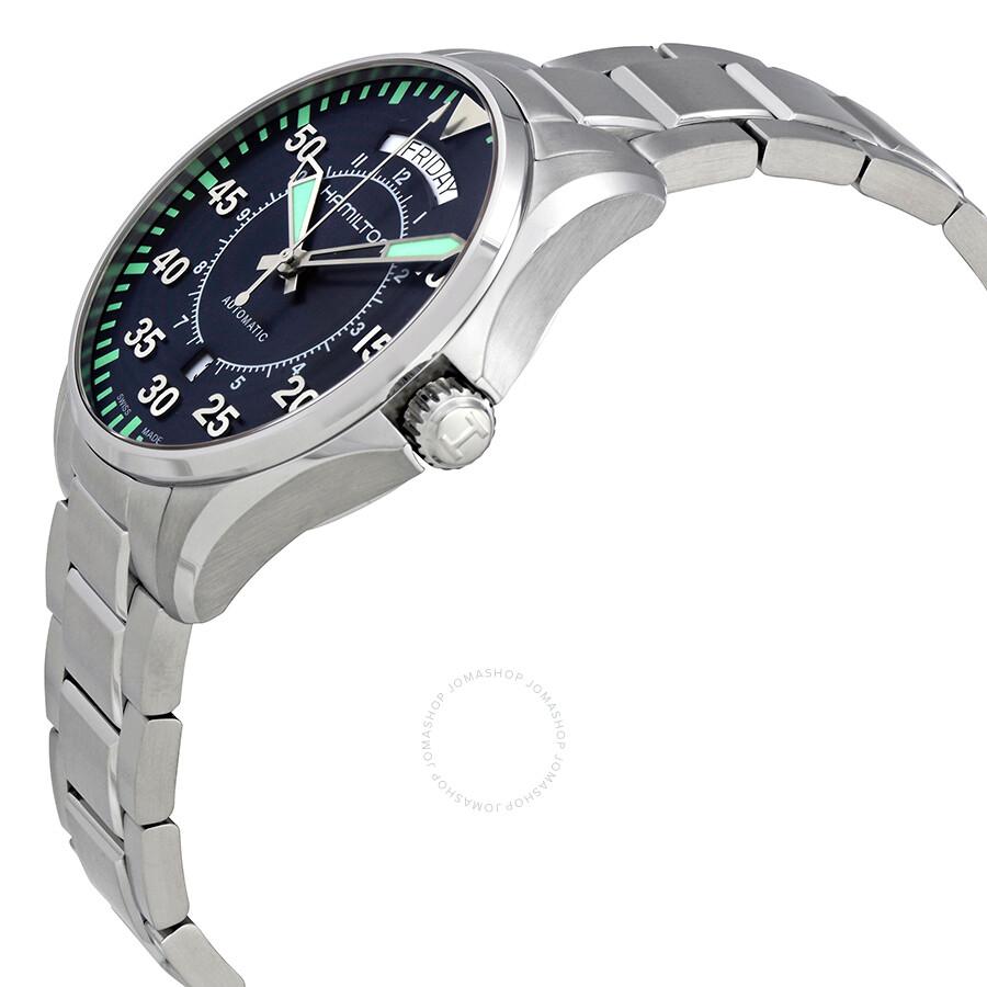 dbb24d6673c ... Hamilton Khaki Aviation Pilot Day Date Auto Blue Dial Men s Watch  H64615145 ...