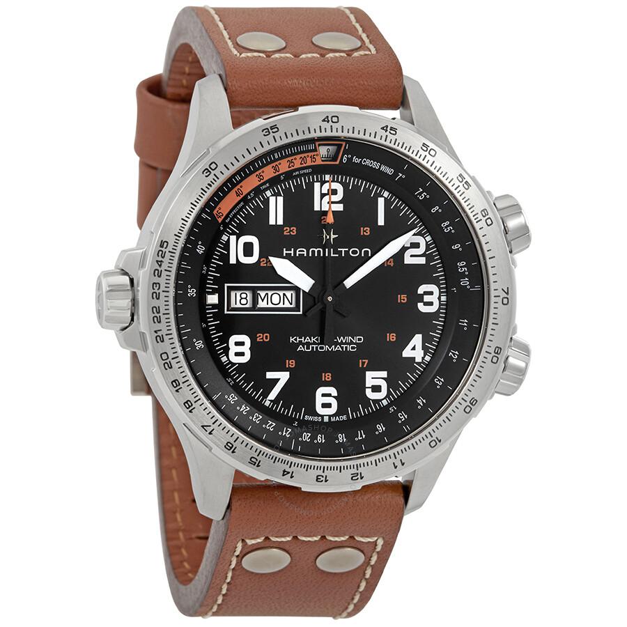 625de5ca012 Hamilton Khaki Aviation X-Wind Automatic Black Dial Men s Watch H77755533  ...