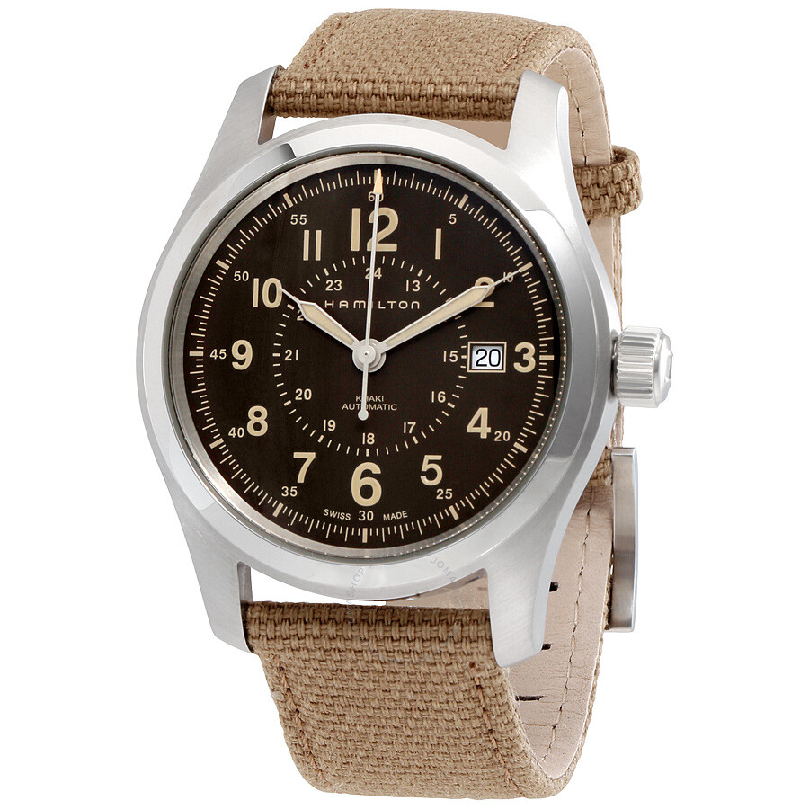 098f72626 Hamilton Khaki Field Auto Brown Dial Men's Watch H70605993 - Khaki ...