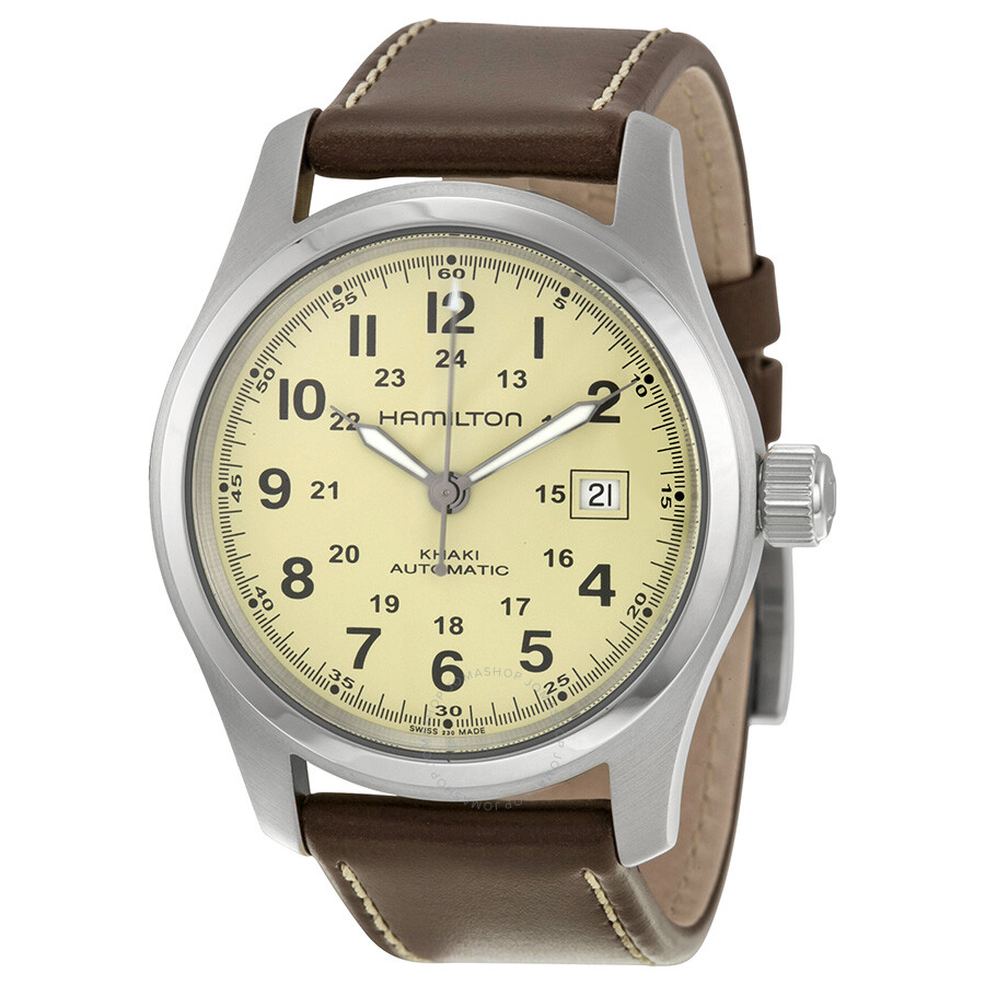 af99b608d5d Hamilton Khaki Field Automatic Beige Dial Men s Watch H70555523 ...