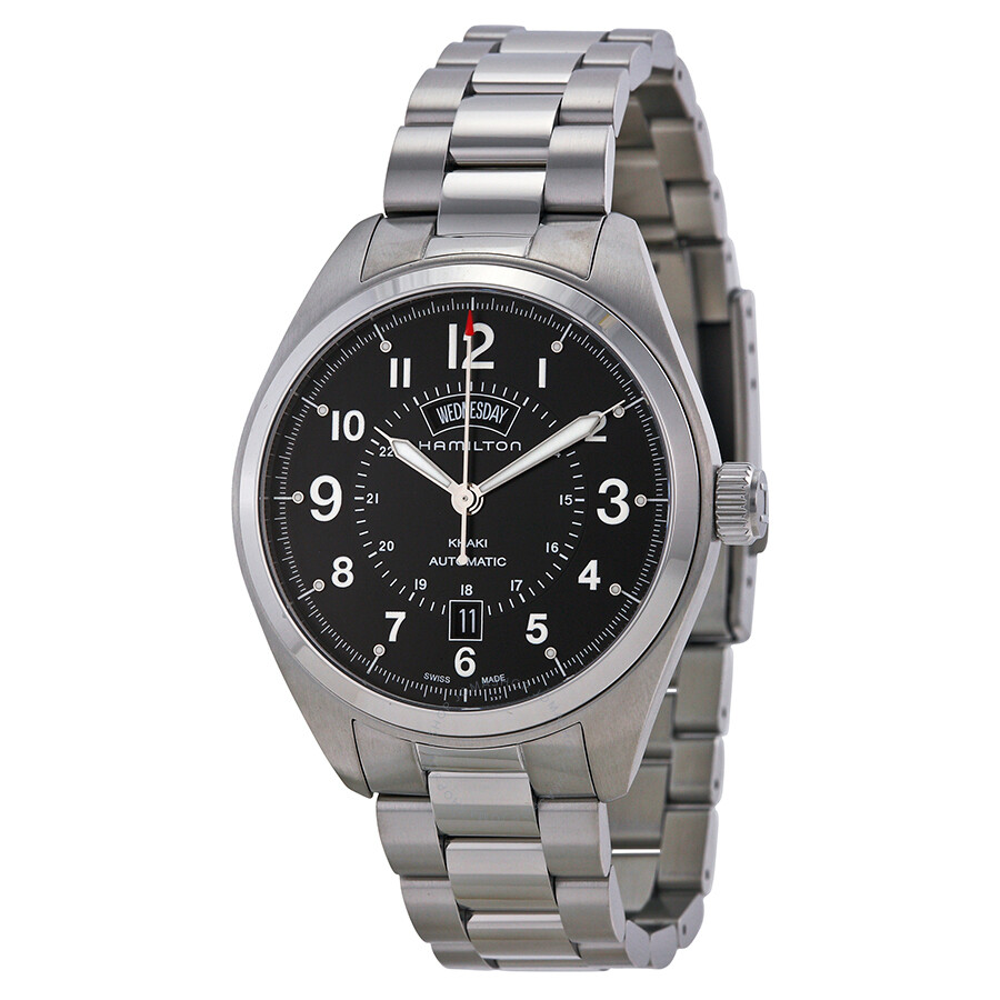 Hamilton Khaki Field Automatic Black Dial Stainless Steel Men s Watch 315a14565c