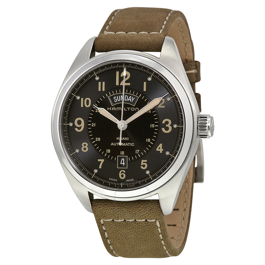 1a09a40c74cc Hamilton Khaki Field Automatic Black Dial Men s Watch H70505833 ...