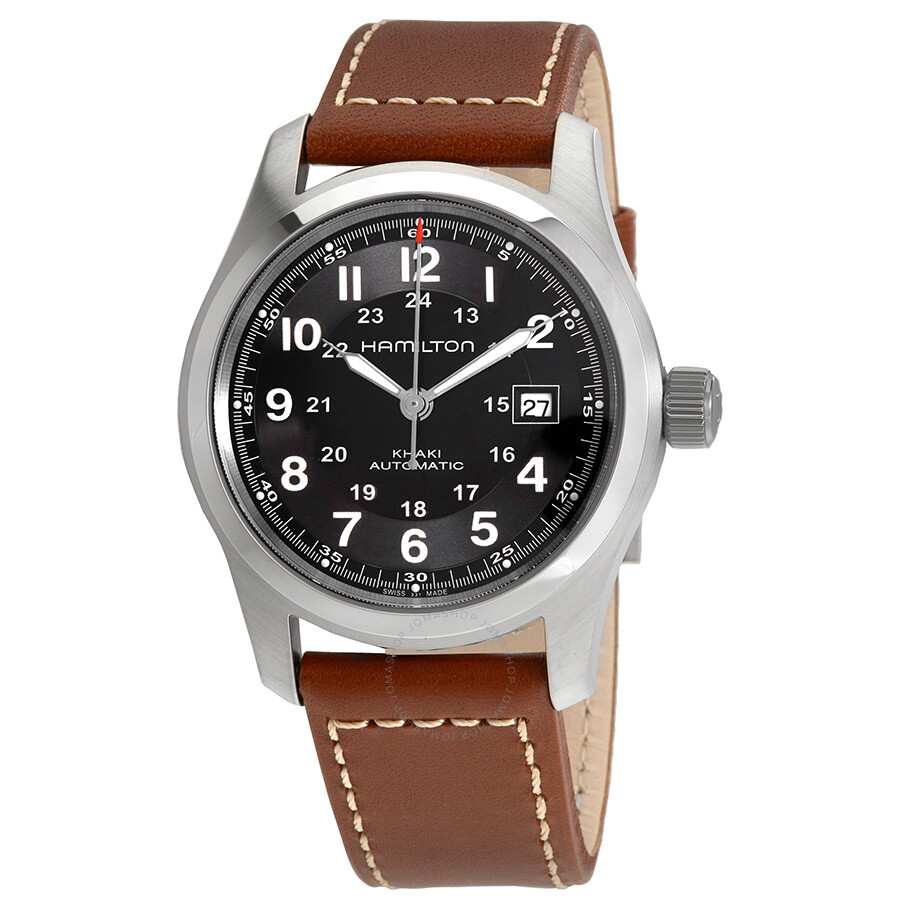 dd130a487351 Hamilton Khaki Field Automatic Black Dial Men s Watch H70555533 ...