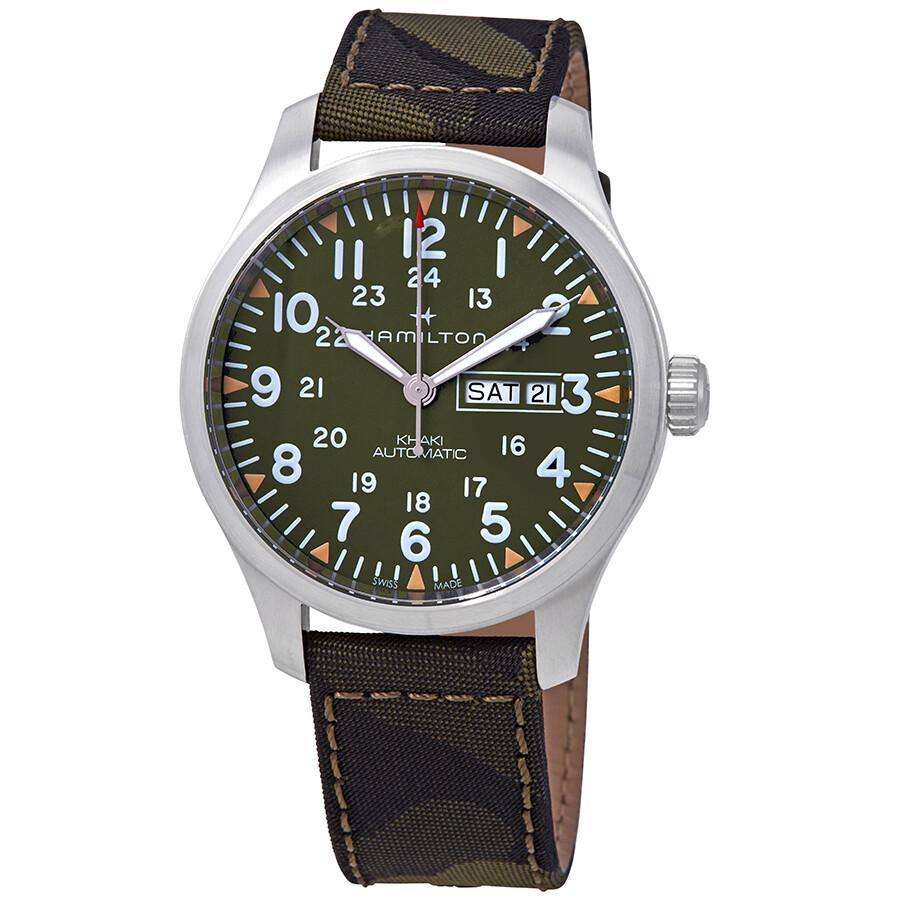 Hamilton Khaki Field Automatic Green Dial Men S Watch H70535061