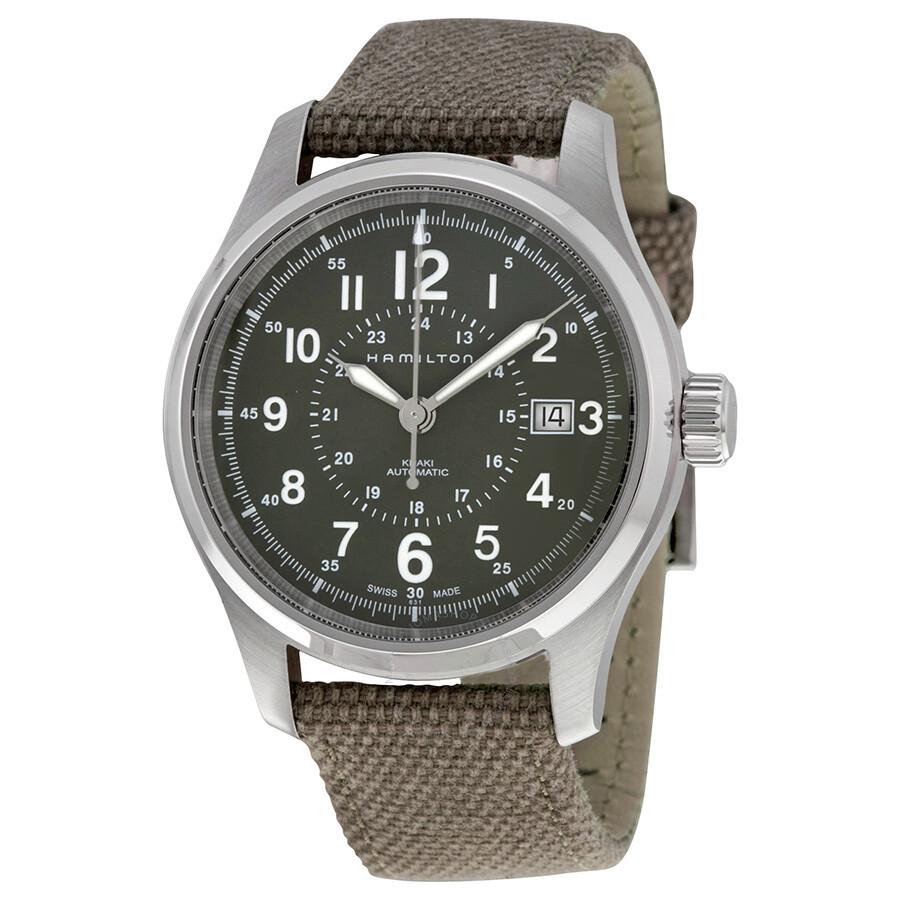 Khaki Field Automatic Green Dial Men's Watch by Hamilton