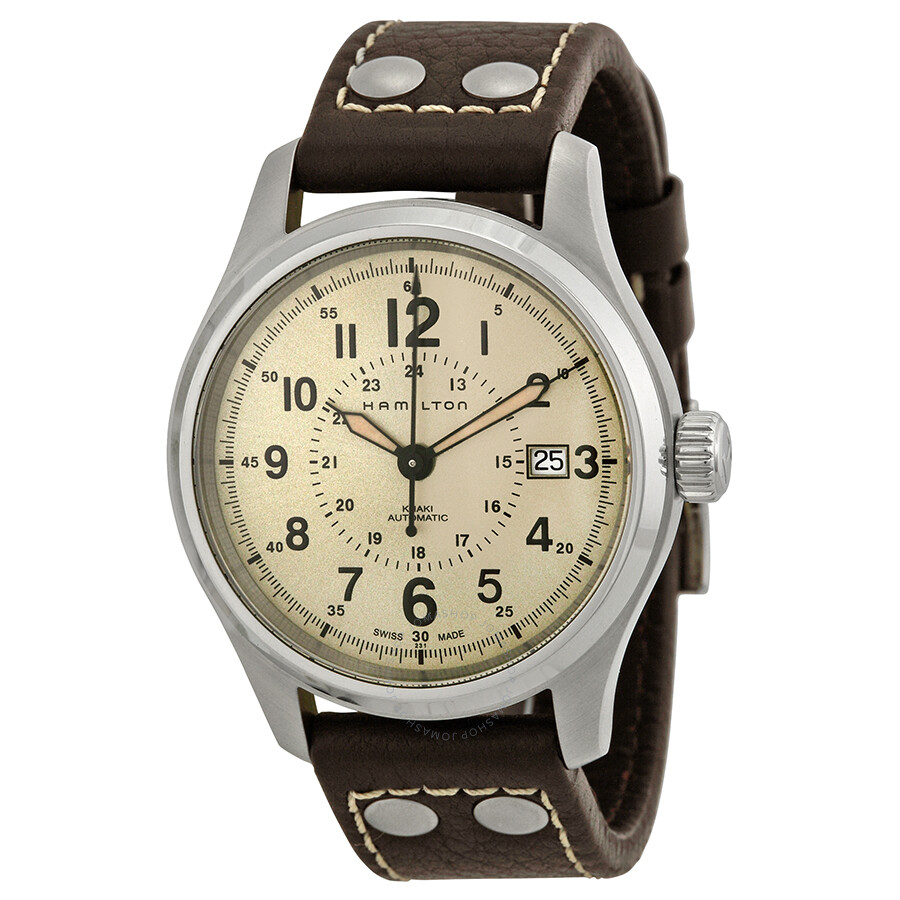 eced90137e0e Hamilton Khaki Field Automatic Old Paper Dial Men s Watch H70595523 ...