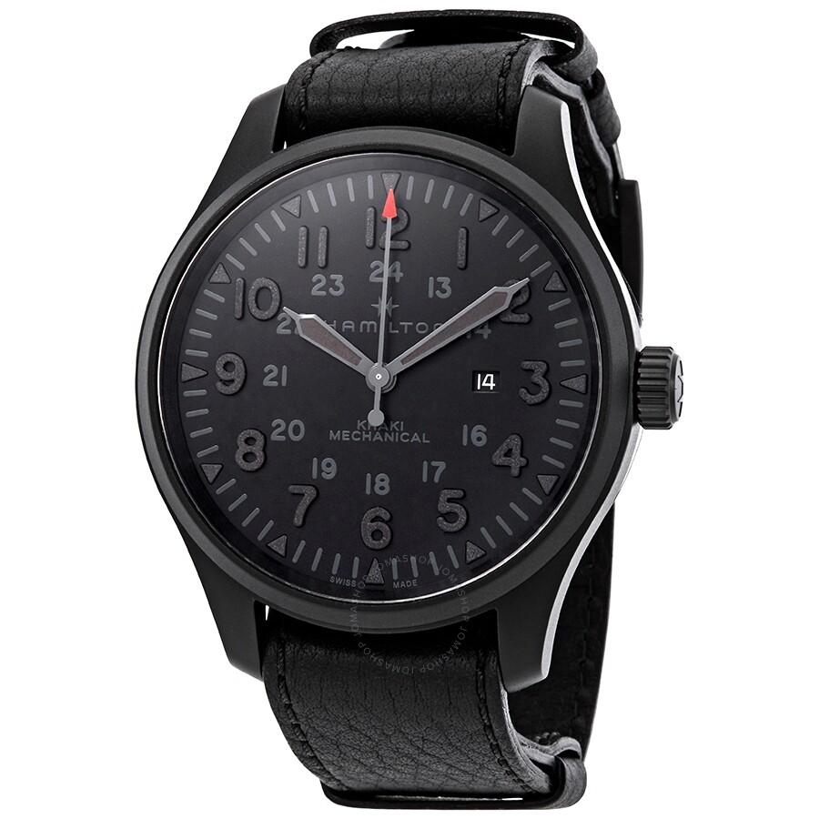 7d7937e836 Hamilton Khaki Field Hand Wound Black Dial Men s Watch H69809730 ...