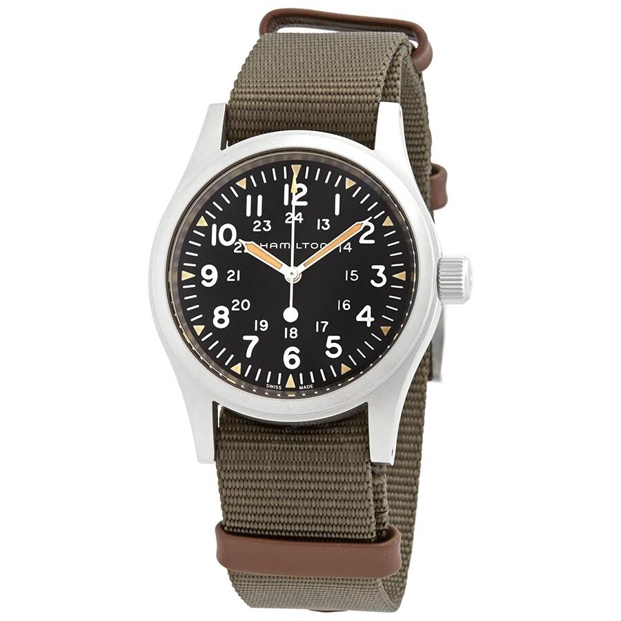 Hamilton Khaki Field Hand Wind Black Dial Men S Watch H69439931