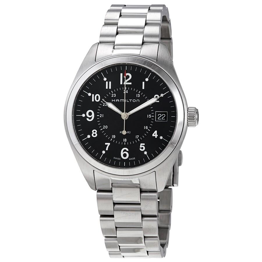 Hamilton Khaki Field Black Dial Stainless Steel Men S Watch H68551933
