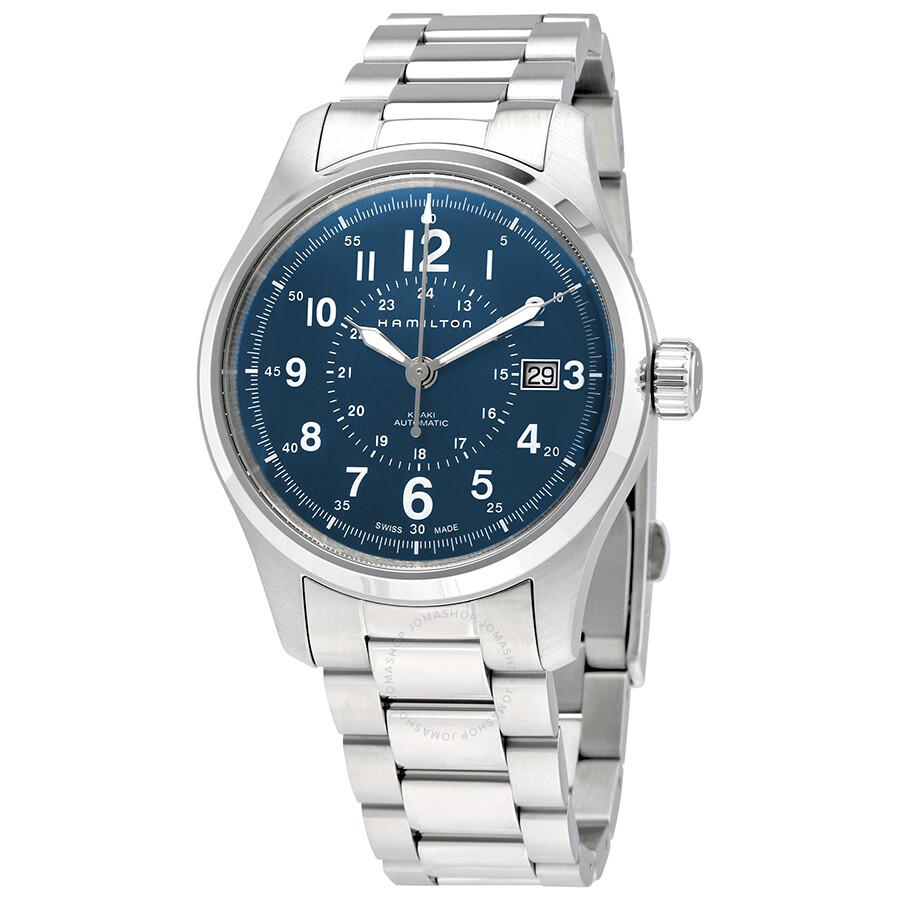 Hamilton Khaki Field Blue Dial Automatic Men s Steel Watch H70305143 ... 84762fdc8
