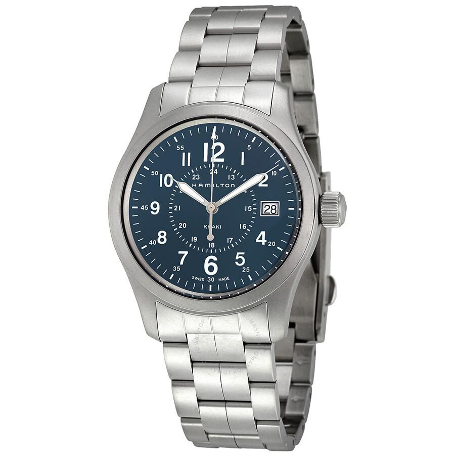 Hamilton Khaki Field Blue Dial Men s Watch H68201143 - Khaki Field ... 516b197d1