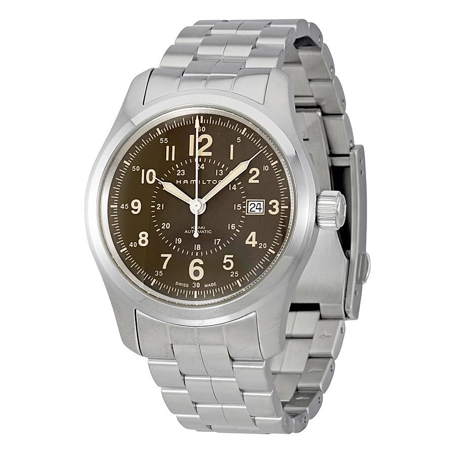Hamilton Khaki Field Watches Jomashop Jam Tangan Audemars Piguet Safari Steel 42mm Automatic Brown Dial Mens Watch