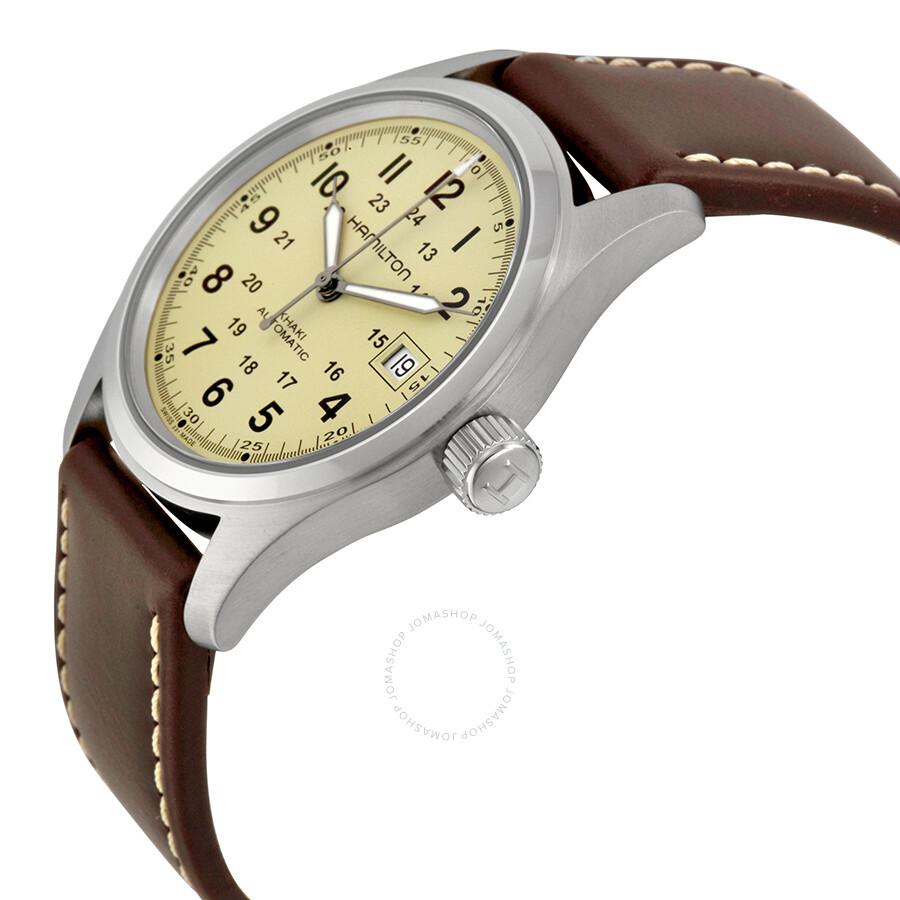 67aaf450c7b ... Hamilton Khaki Field Beige Dial Automatic Men s Watch H70455523 ...