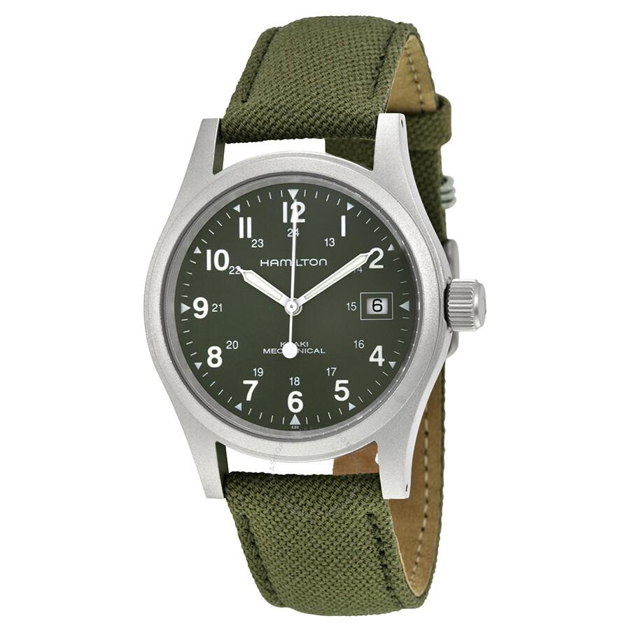 Hamilton Khaki Field Green Dial Men's Watch H69419363 ...