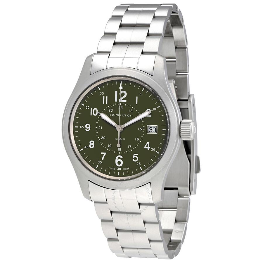 Hamilton Khaki Field Olive Green Dial Men S Watch H68201163