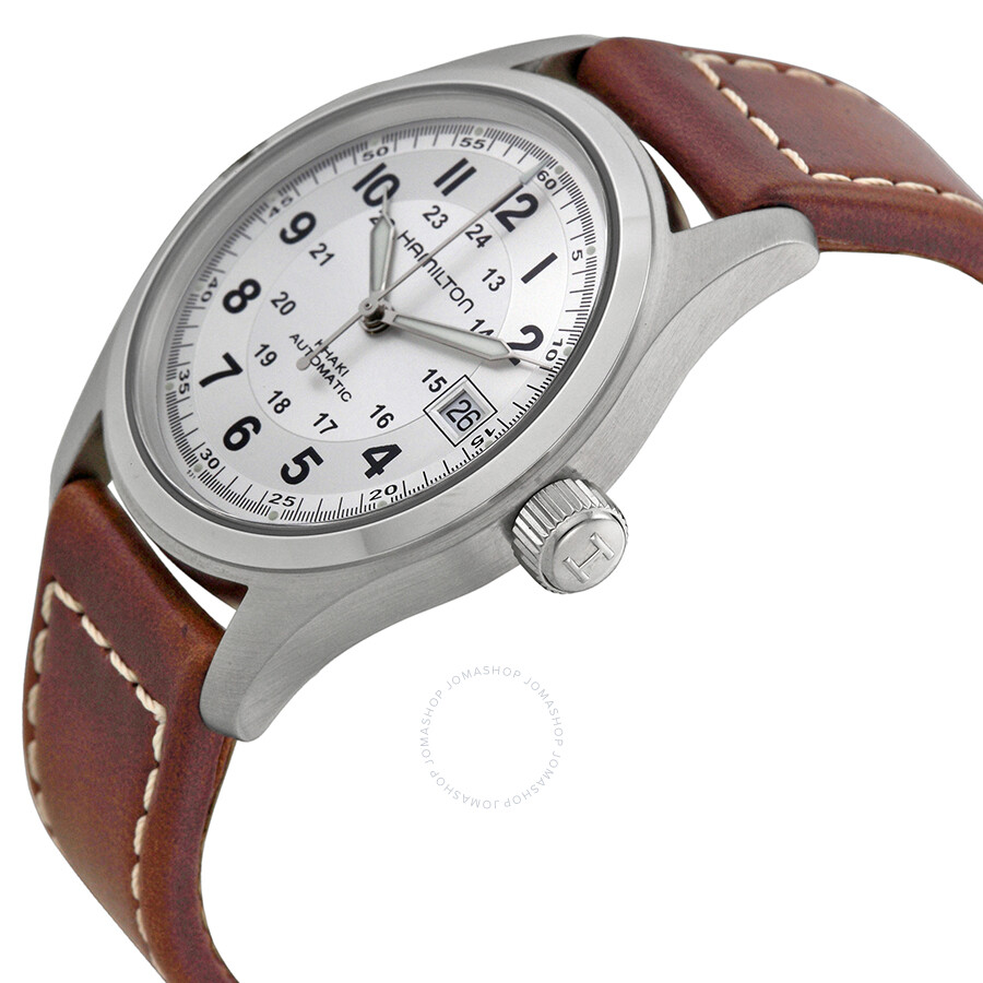 cbb2e155f42 Hamilton Khaki Field Silver Dial Men s Watch H70455553 - Khaki Field ...