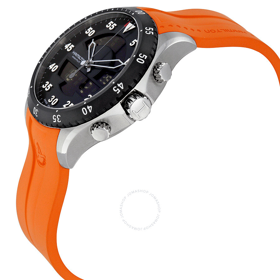 8523373610f ... Hamilton Khaki Flight Timer Dual Display Chronograph Men s Watch  H64554431 ...