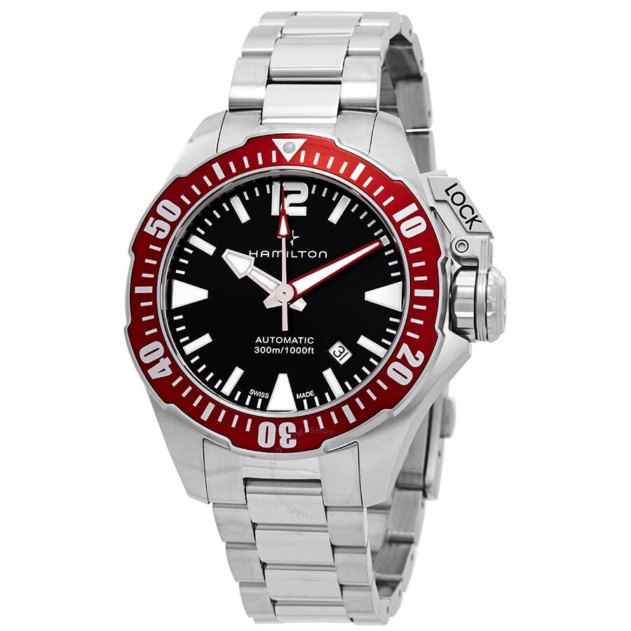 Hamilton Khaki Navy Automatic Black Dial Men S Watch H77725135