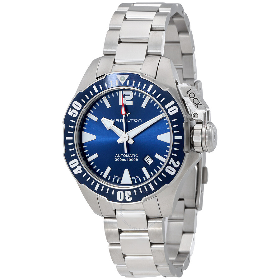 7580bb0483b Hamilton Khaki Navy Frogman Automatic Blue Dial Men s Watch H77705145 ...
