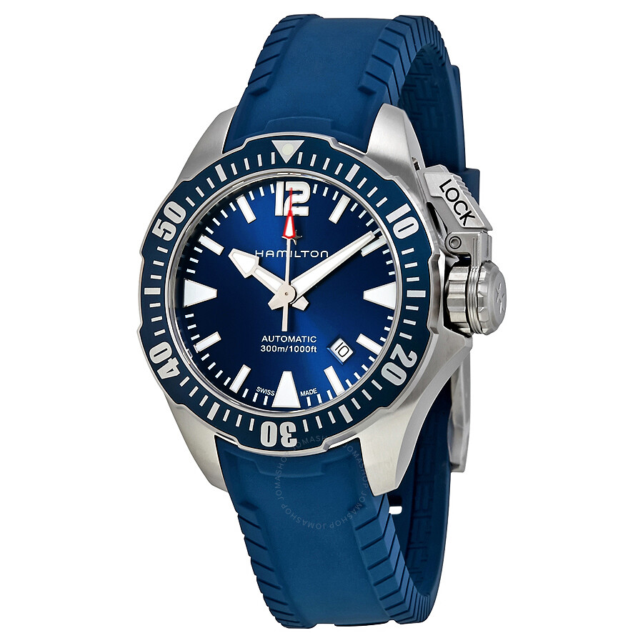 Hamilton Khaki Navy Frogman Automatic Blue Dial Men's ...