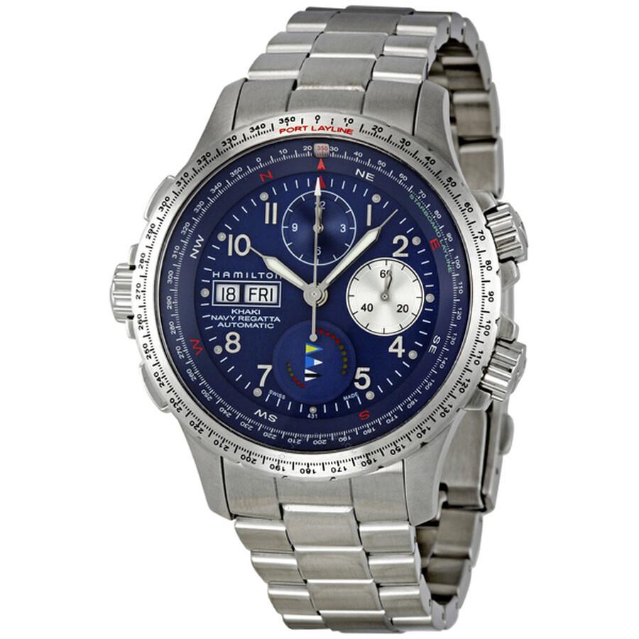 710a9bee Hamilton Khaki Navy Regatta Men's Watch H77636143 Item No. H77636143