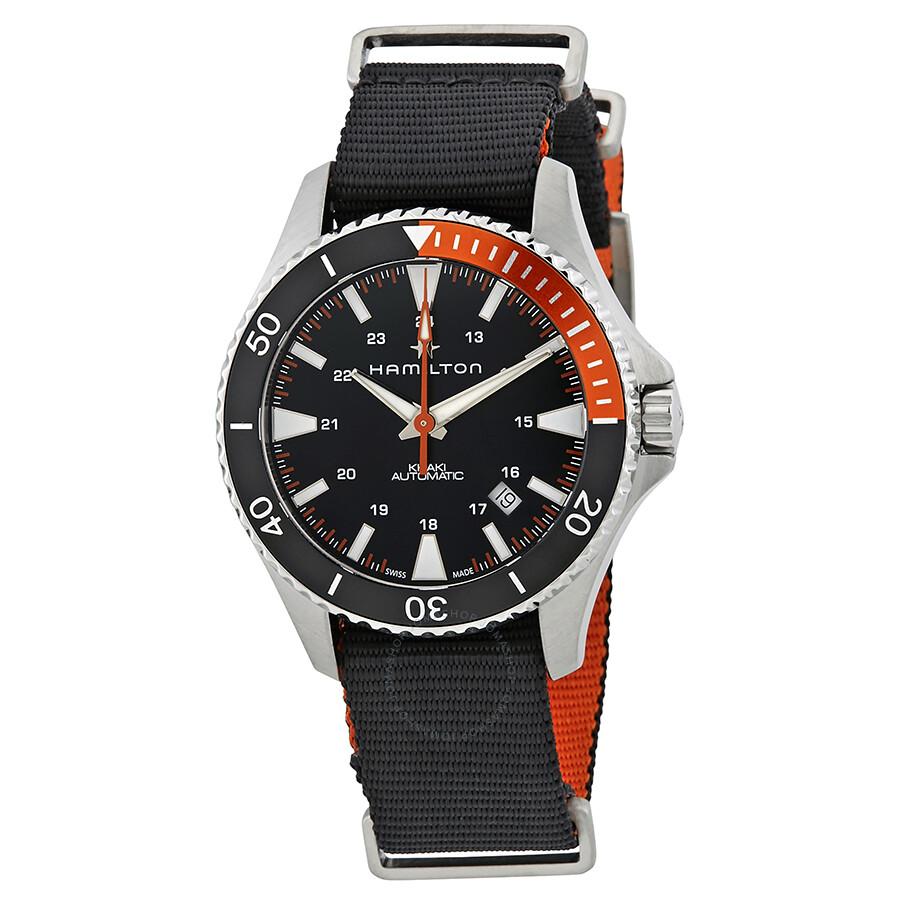 Hamilton Khaki Navy Scuba Automatic Black Dial Men S Watch H82305931