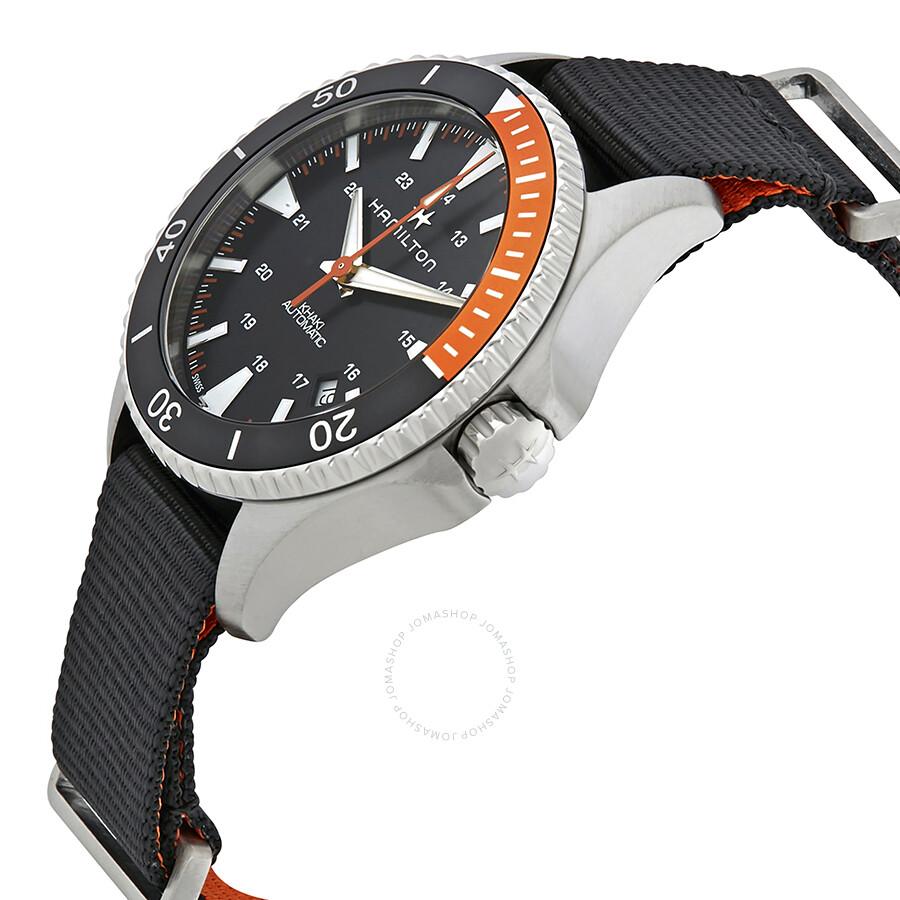 f2024d4fab8 ... Hamilton Khaki Navy Scuba Automatic Men s Nylon Watch H82305931 ...