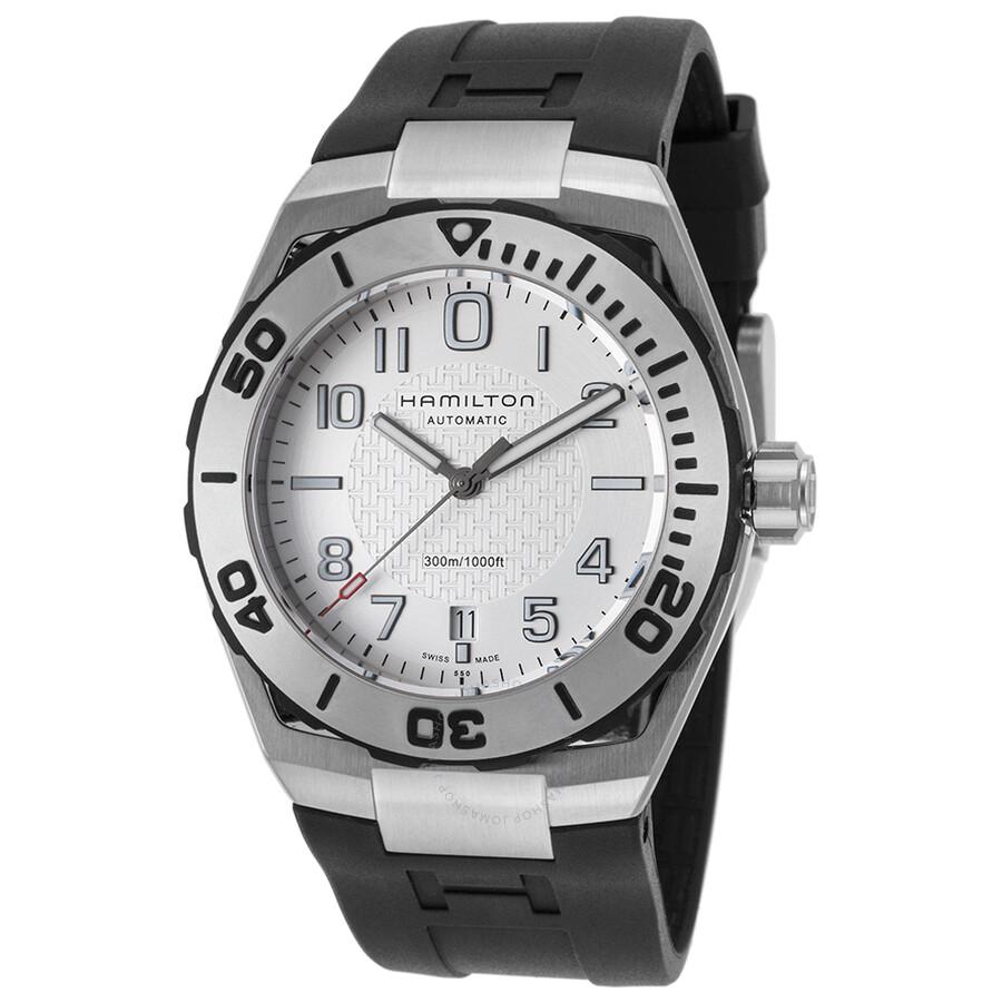Hamilton Khaki Navy Sub Auto Automatic Silver Dial Men S Watch H78615355