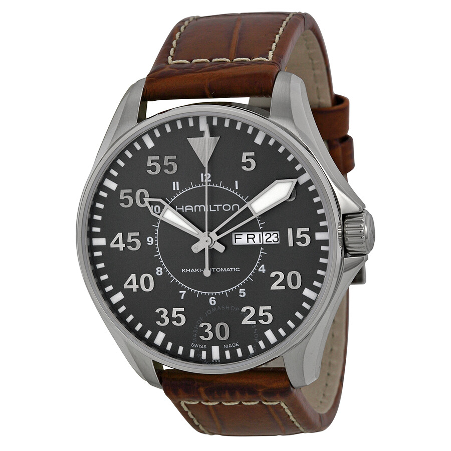 Hamilton Khaki Pilot Automatic Men s Watch H64715885 - Khaki ... 979d726354