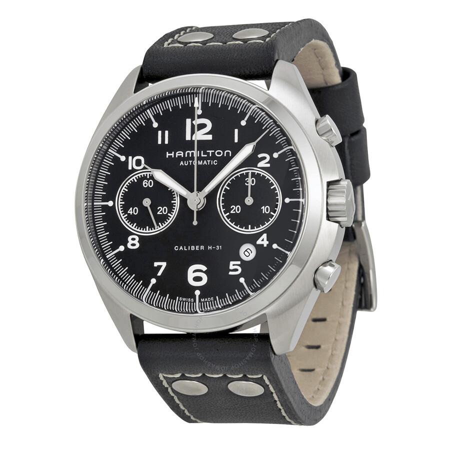 6fa795b6d Hamilton Khaki Pilot Pioneer Automatic Chronograph Men's Watch H76416735 ...