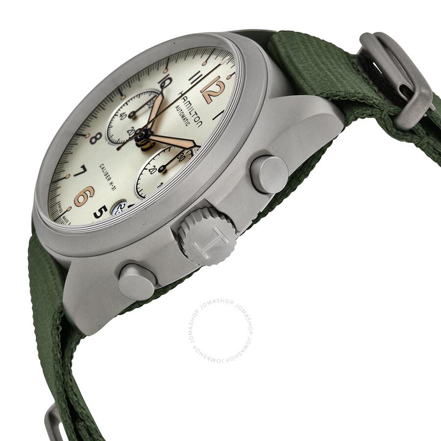 78b424742 ... Hamilton Khaki Pilot Pioneer Automatic Chronograph Men's Watch  H76456955 ...