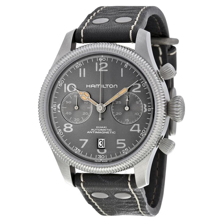 feaac0a71 Hamilton Khaki Pioneer Chronograph Men's Watch H60416583 - Khaki ...