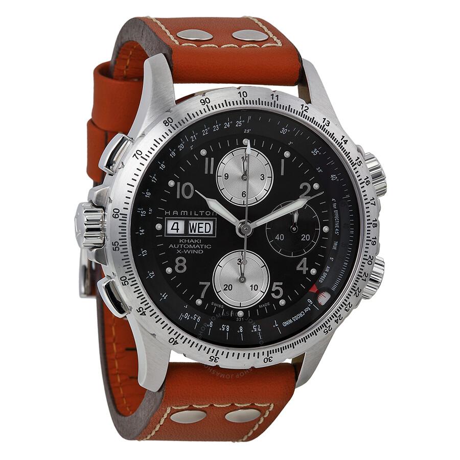 15e2cc1d9fe Hamilton Men s Khaki X Wind Watch H77616533 - Khaki Aviation ...