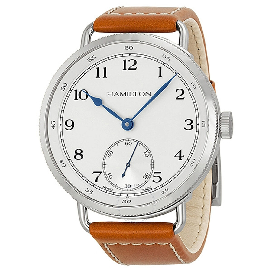 4a7574596c6 Hamilton Navy Pioneer Automatic White Dial Tan Leather Men s Watch H78719553