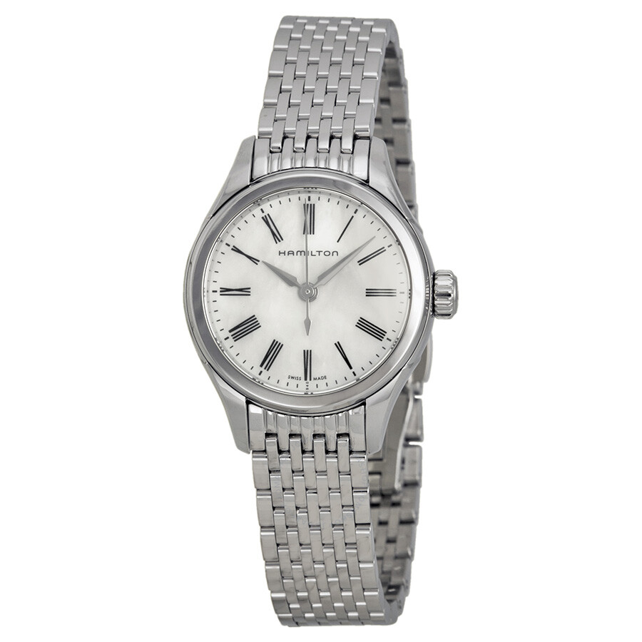 Hamilton Timeless Classic Valiant Mother Of Pearl Dial Stainless Steel Ladies Watch H39251194