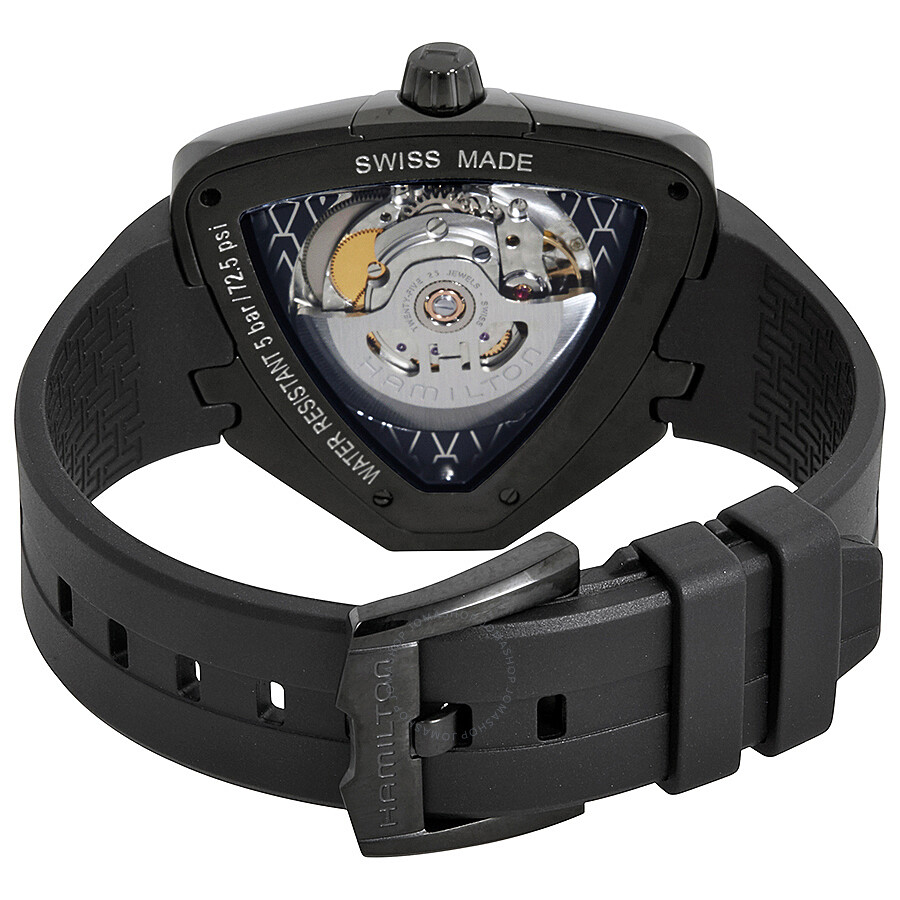 Watch Hamilton Automatic Ventura Pvd Black Elvis80 Dial Men's H24585331 cAjq4L53SR