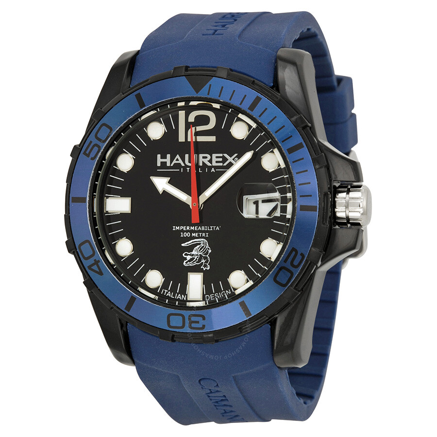 Haurex italy caimano blue rubber men 39 s watch n1354unb haurex italy watches jomashop for Haurex watches