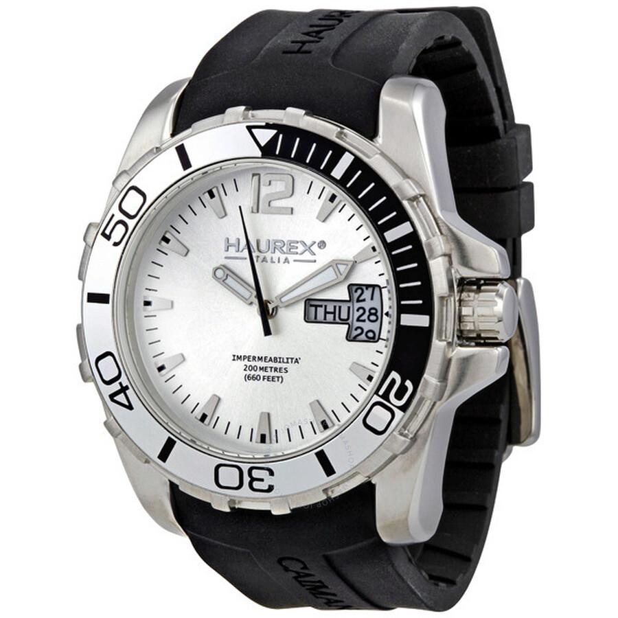 Haurex italy caimano men 39 s watch 1a354uss haurex italy watches jomashop for Haurex watches