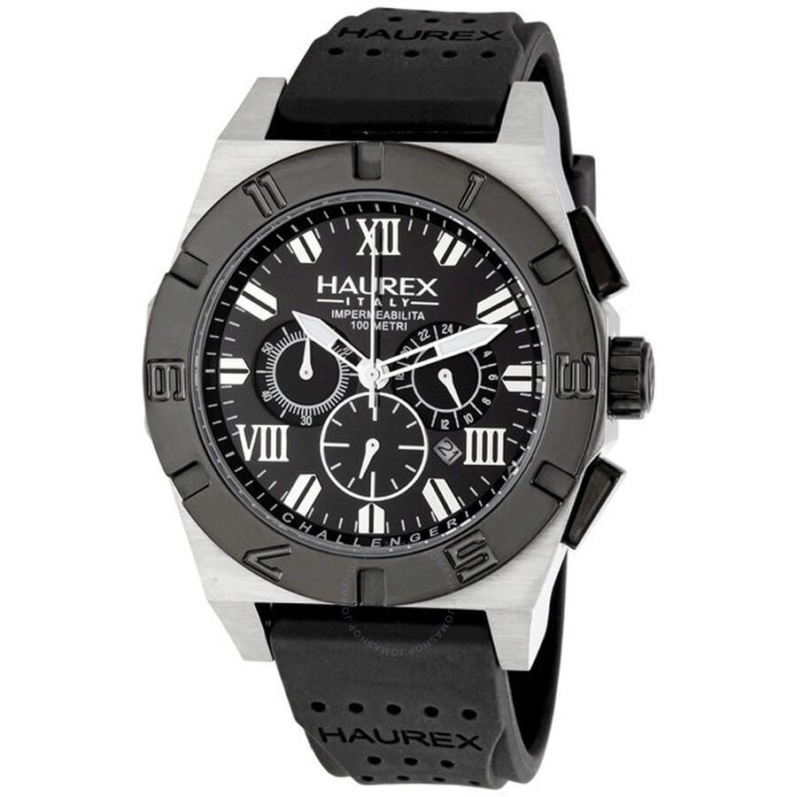 Haurex italy challenger 2 chronograph men 39 s watch 3d350unn haurex italy watches jomashop for Haurex watches