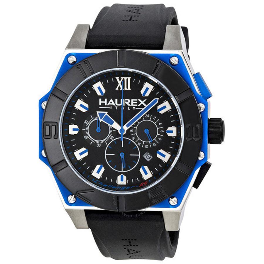 Haurex italy challenger chronograph men 39 s watch 3d364unb haurex italy watches jomashop for Haurex watches